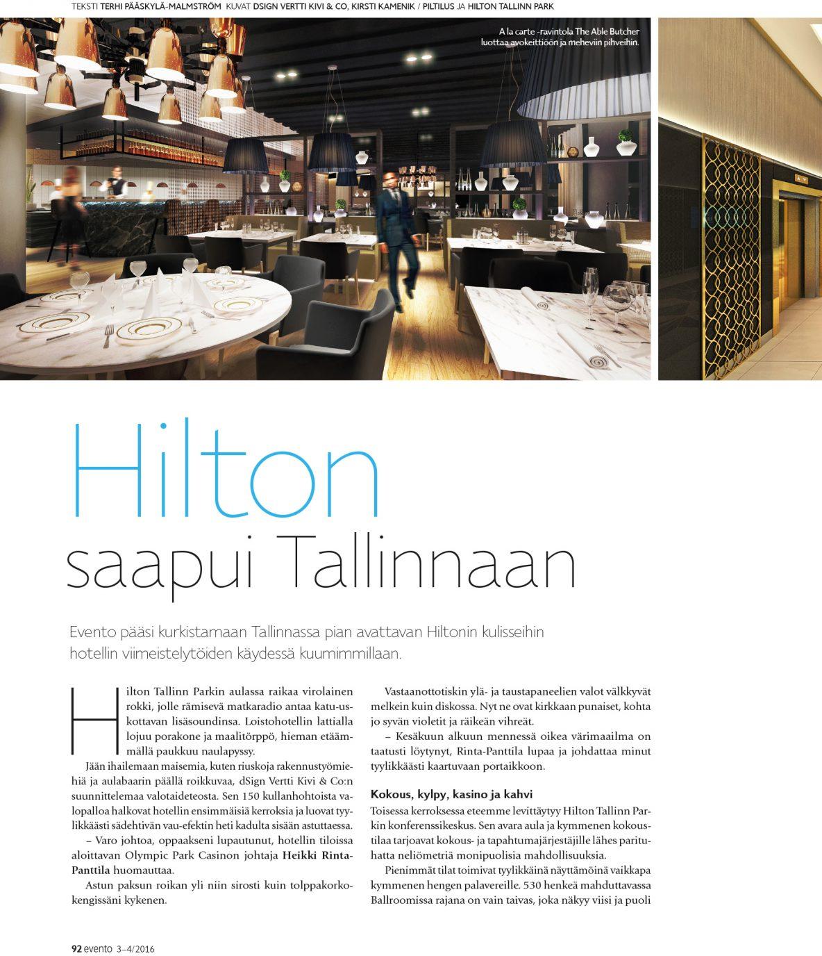 Hilton saapui Tallinnaan