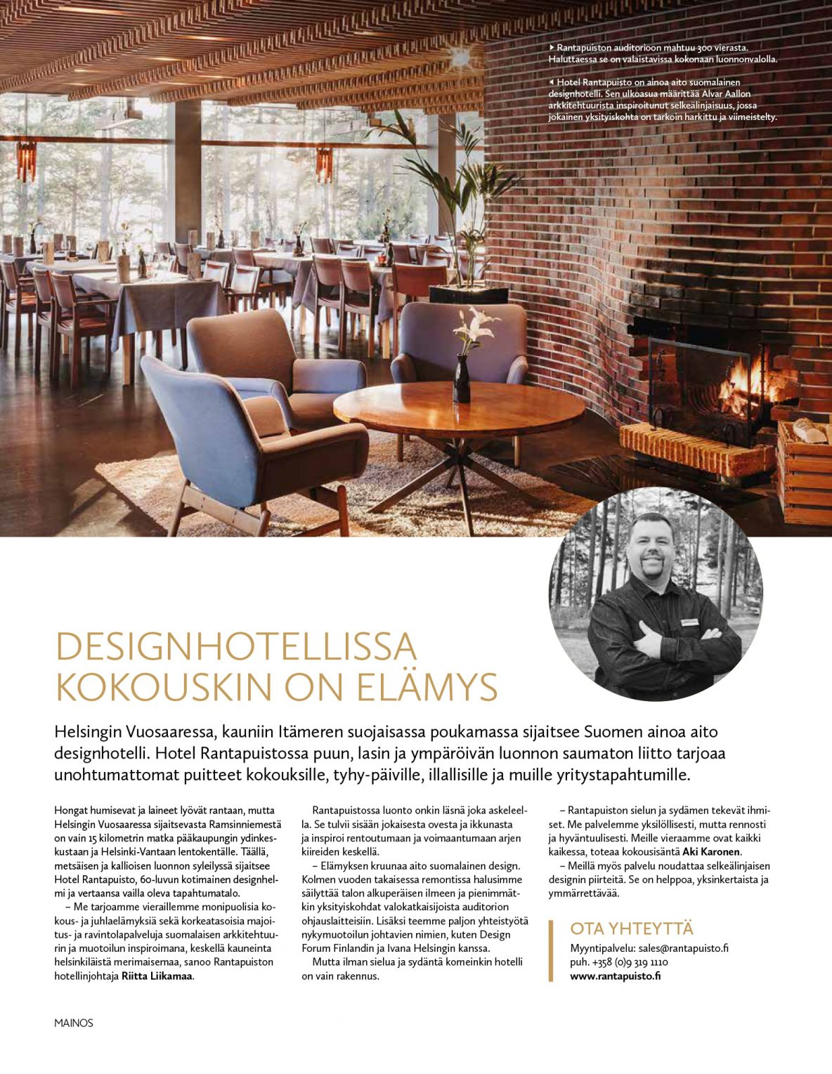 Designhotellissa kokouskin on elämys