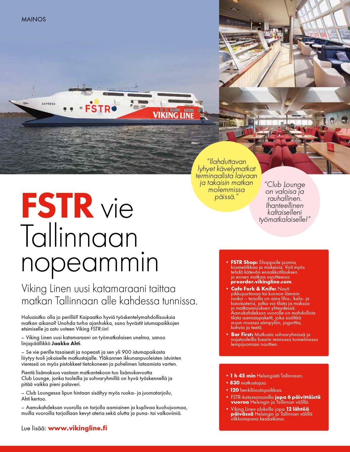 FSTR vie Tallinnaan nopeammin