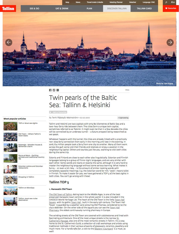 Twin pearls of the Baltic Sea: Tallinn & Helsinki